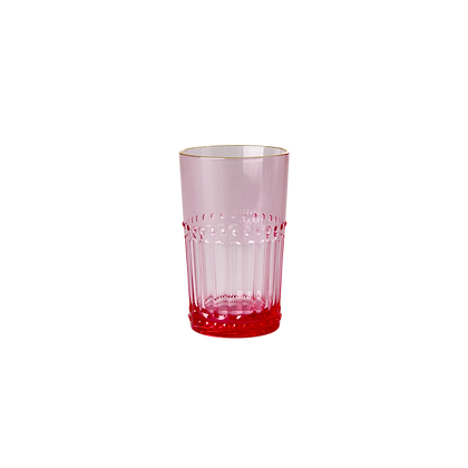 Acrylic Tumbler in Pink with Gold Edge - Small - 250 ml.