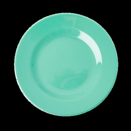 Melamine Round Dinner Plate in Emerald Green