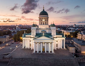 Helsinki Cathedral helicopter sightseein