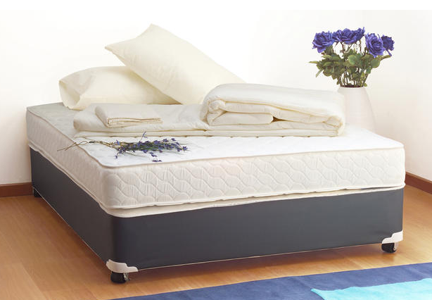 A plush mattress bed