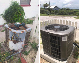 before and after ac unit