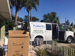 fishers heat and air van
