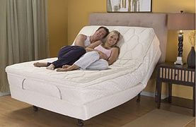 Couple On A Fox Mattress Adjustable Bed