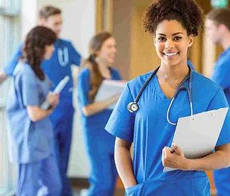 hospital nurse with chart