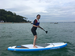 Paddleboarding off the Isle of Wight