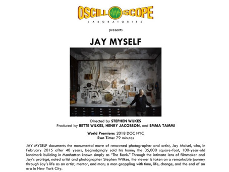 JAY MYSELF OpeningJuly 31st at Film Forum in New York