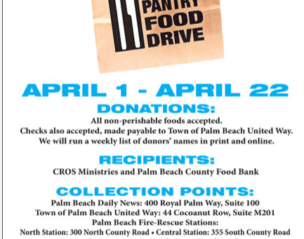 ‪Empty Your Pantry Food Drive‬ Palm Beach Thru April 22