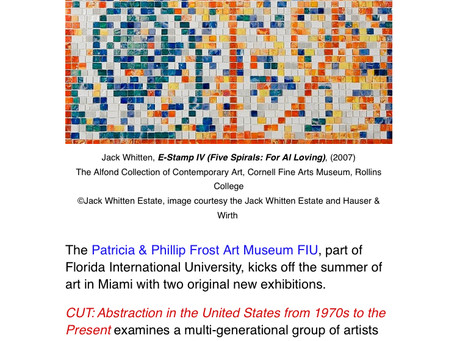 Frost Art Museum FIU Kicks Off Miami's Summer of Art