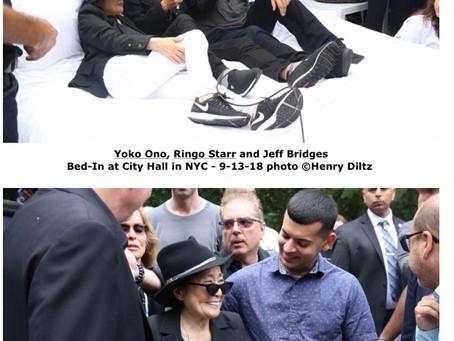 Photographer Henry Diltz Captures Yoko Ono, Ringo Starr & Jeff Bridges at Bed-In in NYC