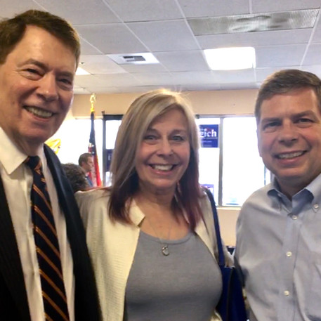 With Four term Alaska State Senator Patrick Rodey and former US Senator Mark Begich.