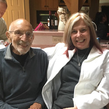 """Janice with Vic Fisher, """"Father of the Alaska Constitution."""""""