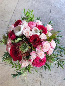 Bouquet rose et rouge