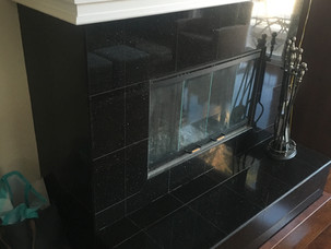 BEFORE - Refacing Fireplace