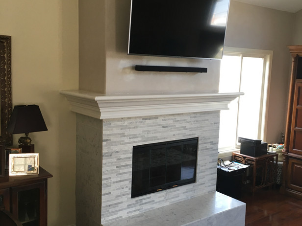 AFTER - Refacing Fireplace