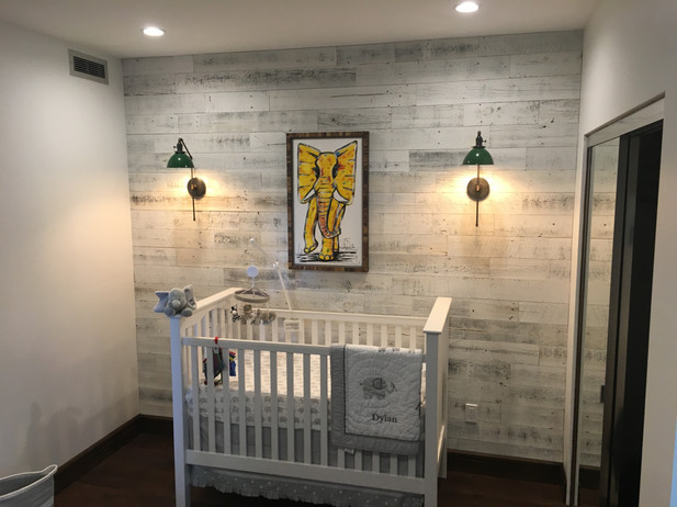 AFTER - Nursery Accent Wall