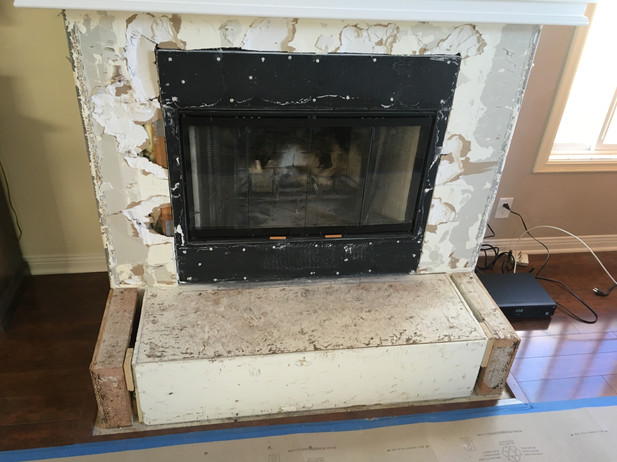 PROGRESS - Refacing Fireplace