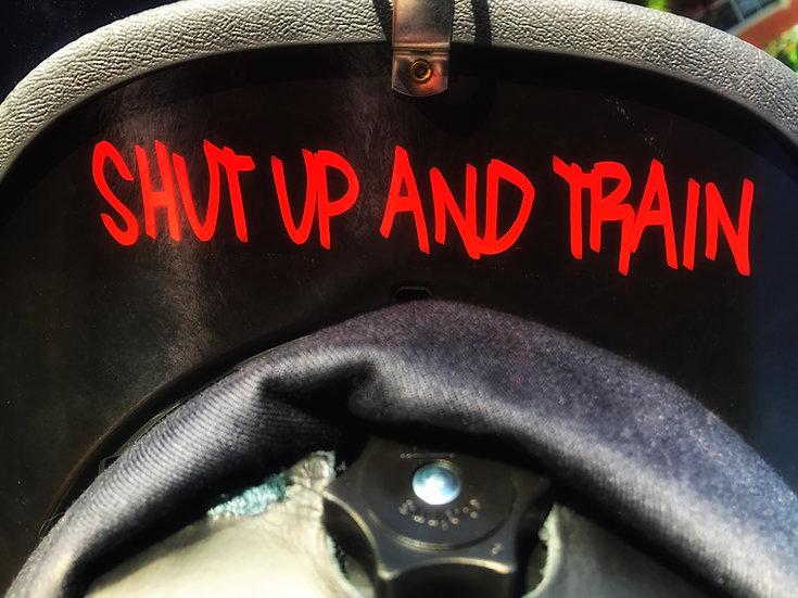 Graffiti SUAT Helmet Brim Sticker