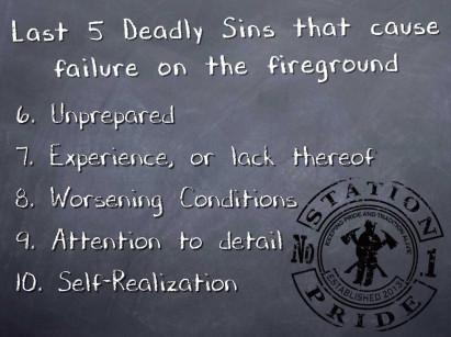 10 Deadly Sins for Fireground Failures – Part 2