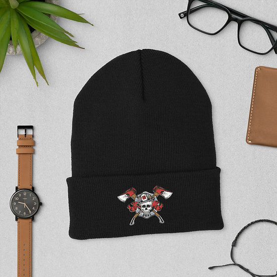 SUAT Crossed Axe Cuffed Beanie