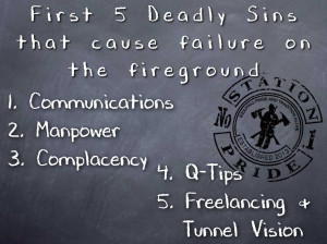 10 Deadly Sins for Fireground Failures – Part I