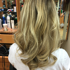 Hair Extension & Highlights (After)