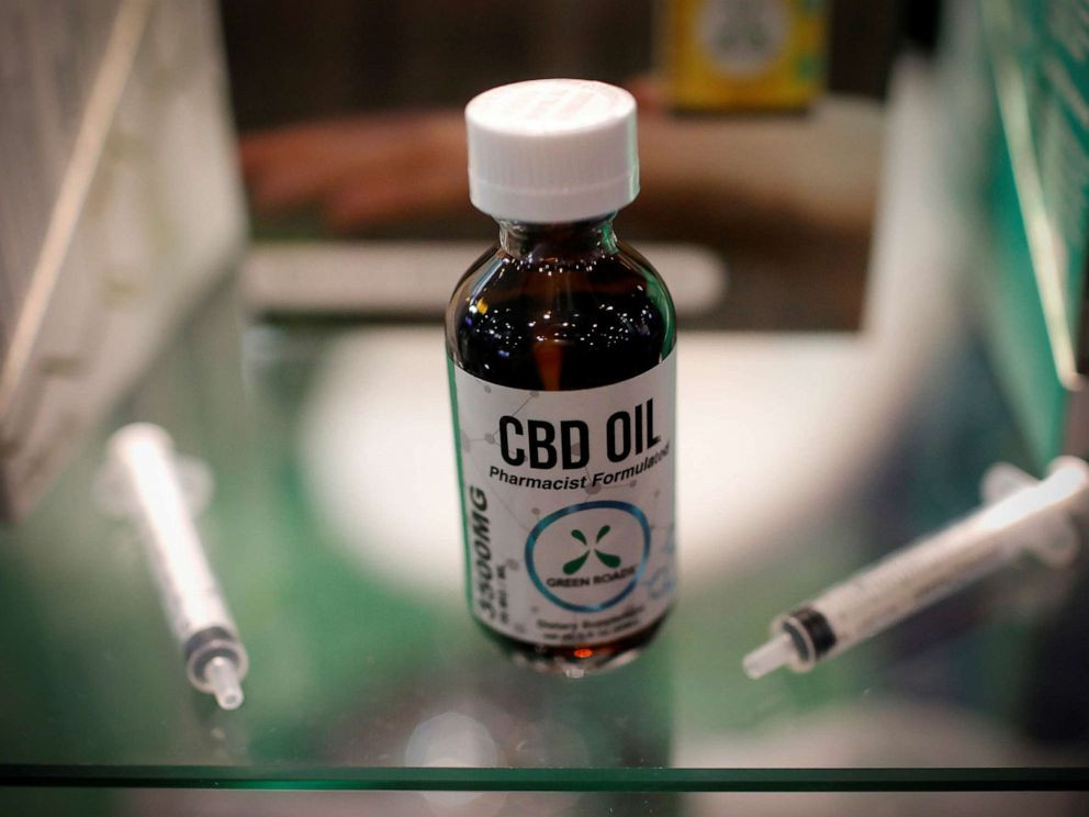 CBD oil is seen displayed at The Cannabis World Congress & Business Exposition trade show in New York, May 30, 2019.