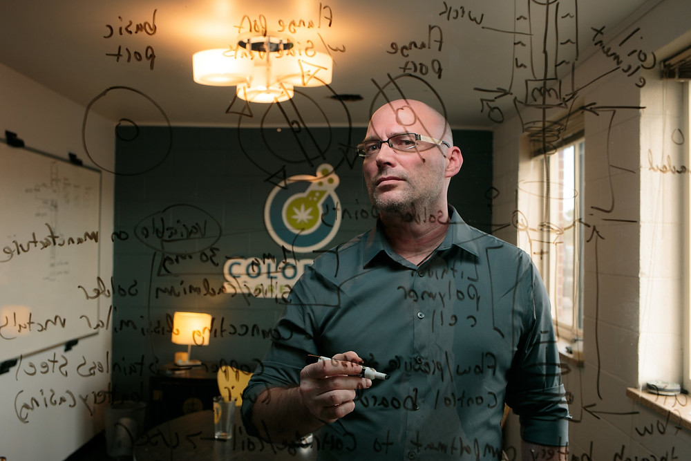 "Frank Conrad, co-founder of Colorado Green Labs in Denver, a cannabis industry consultancy. ""I can't even estimate how many people this is going to screw over,"" said Mr. Conrad. (Credit: Matthew Staver for The New York Times)"