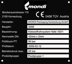 Aluminiumtypenschild