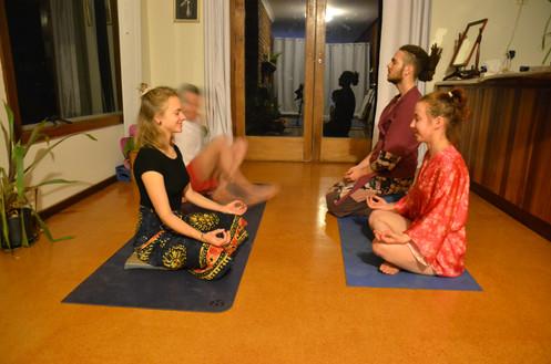 dhyan meditation in yoga room