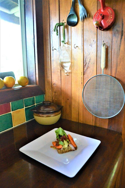 essene raw bread with salad and avocado snack