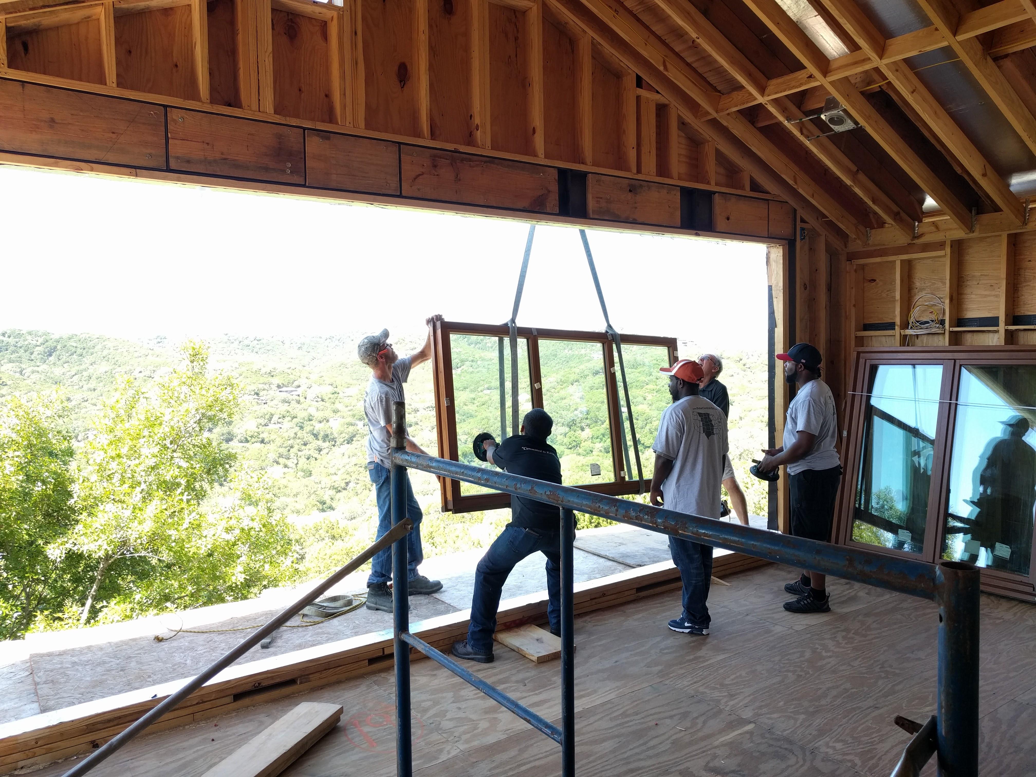 All windows craned inside