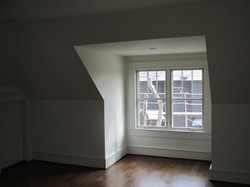 Bedroom windows in vaulted ceiling