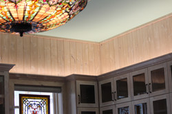 Custom up-light on all upper cabinet