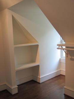 Closet shelves & window
