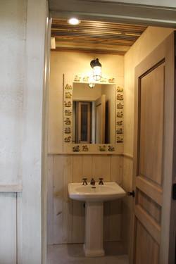 Water closet mirror- Mexican tile