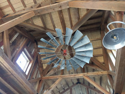 10' diameter vintage windmill fan