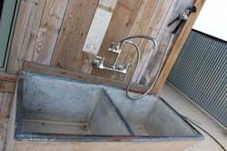 Exterior sink/wash stall