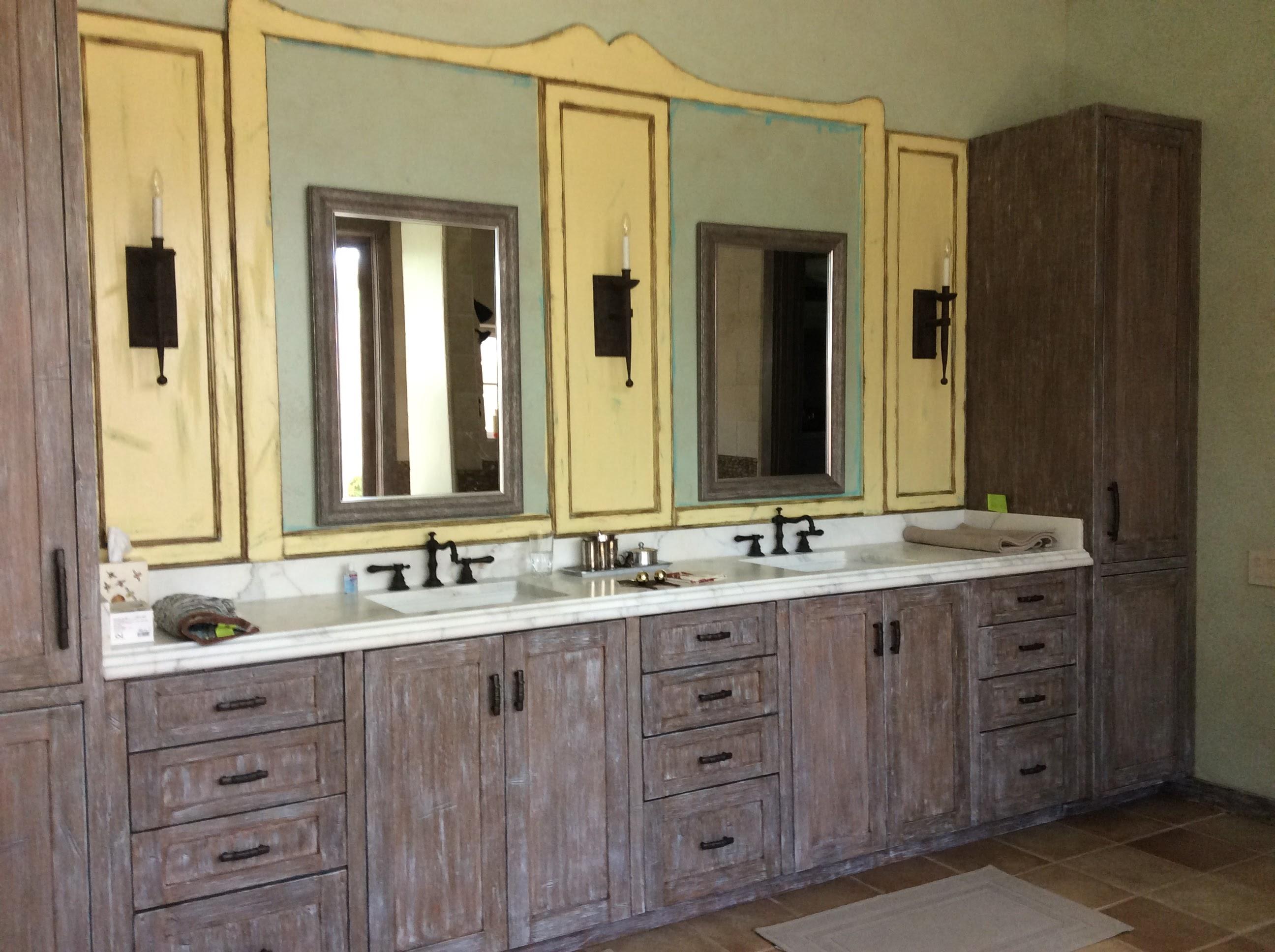 Master vanity (temp mirrors)