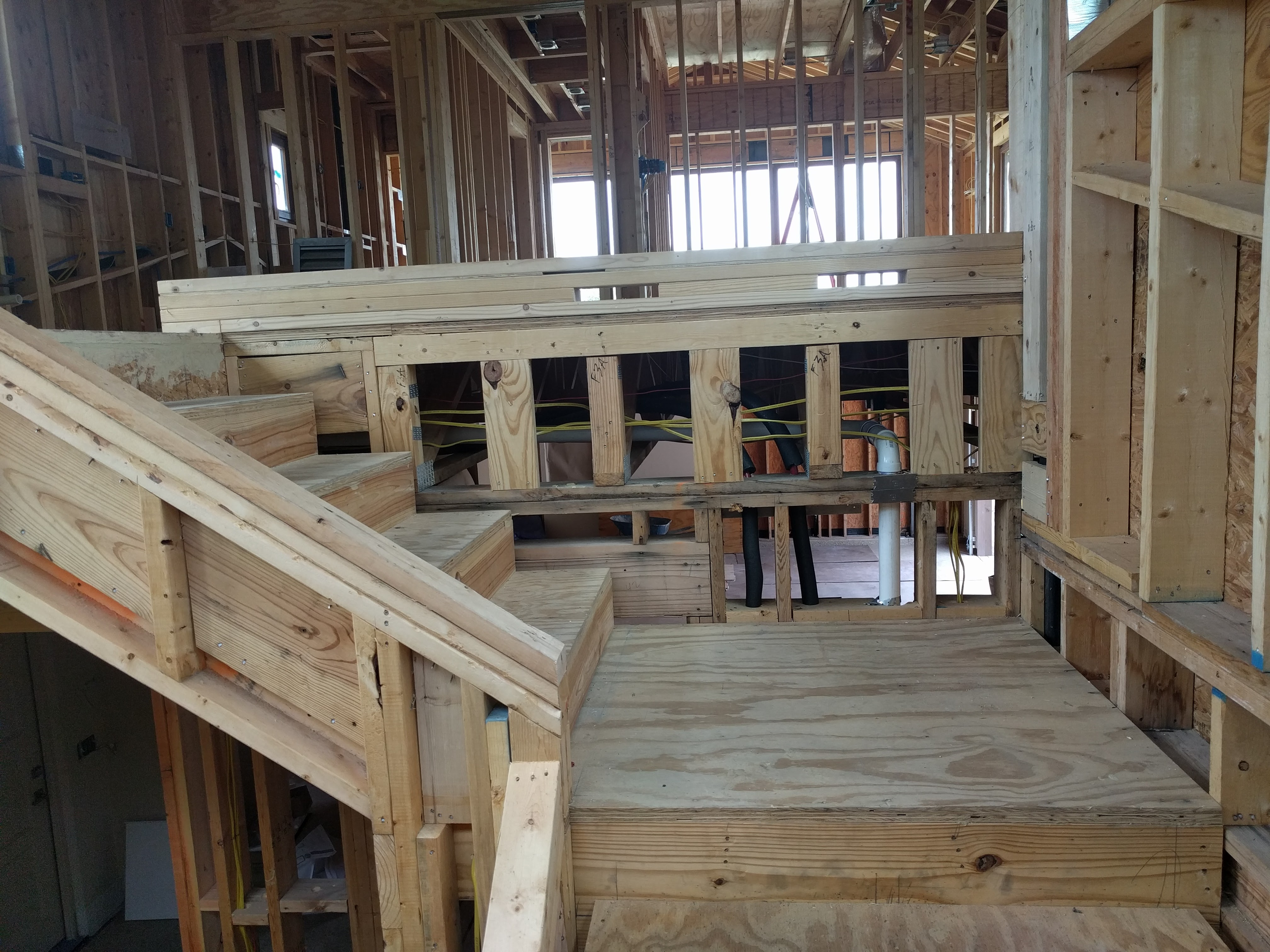 Framing- stairs/second floor