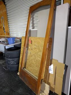Found door for powder room vanity