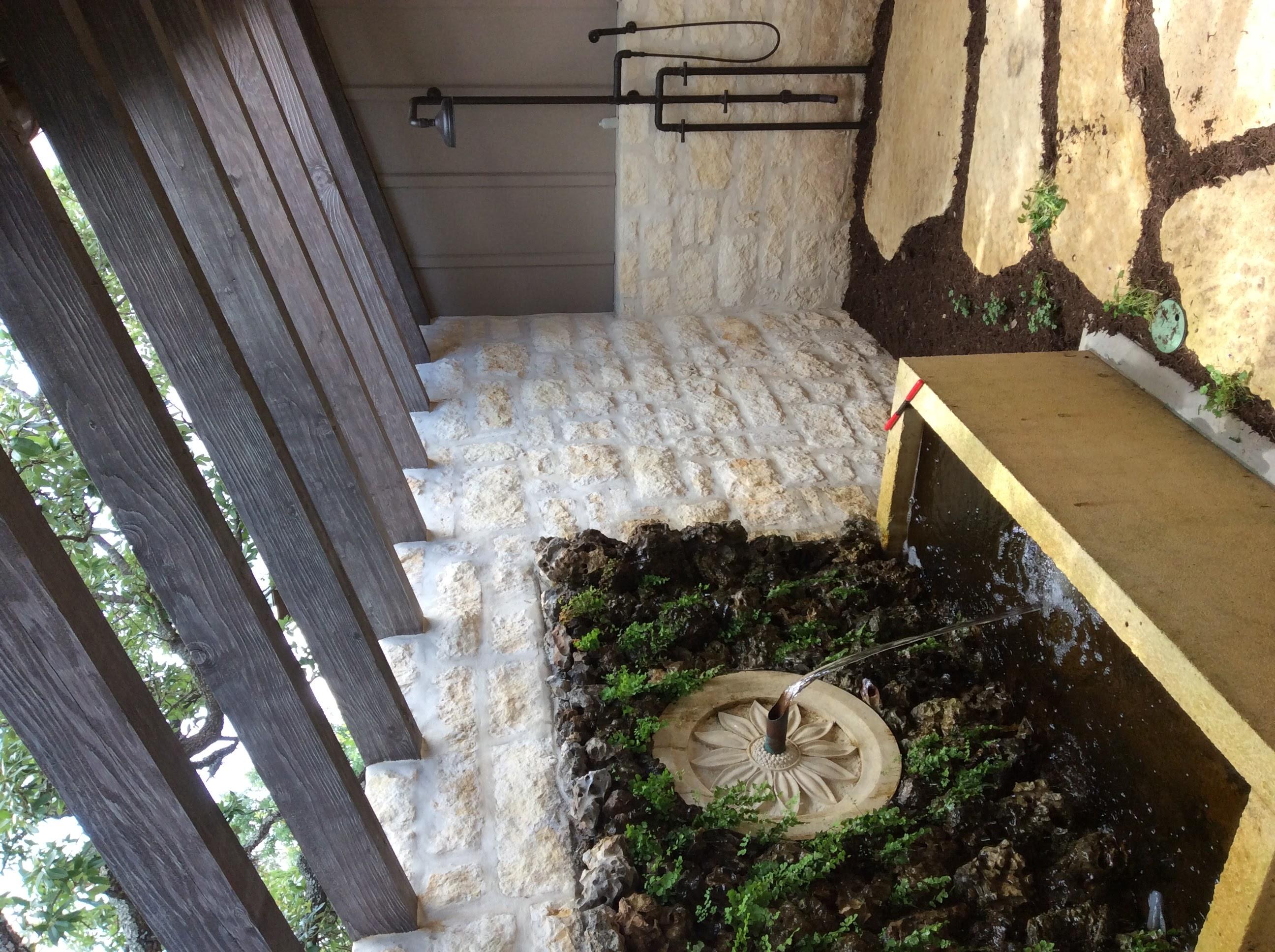 Final outdoor garden shower
