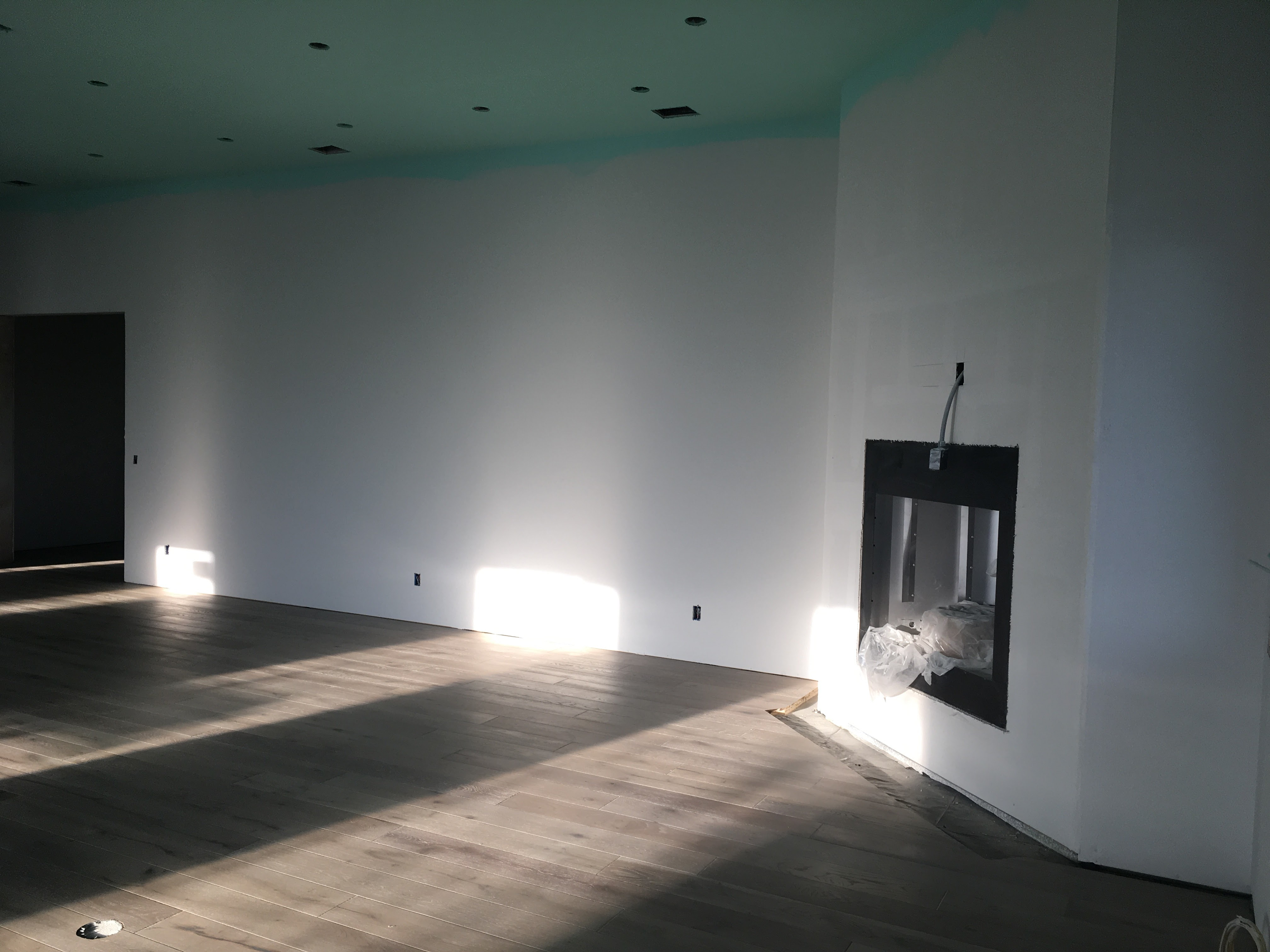 Fireplace at floor install