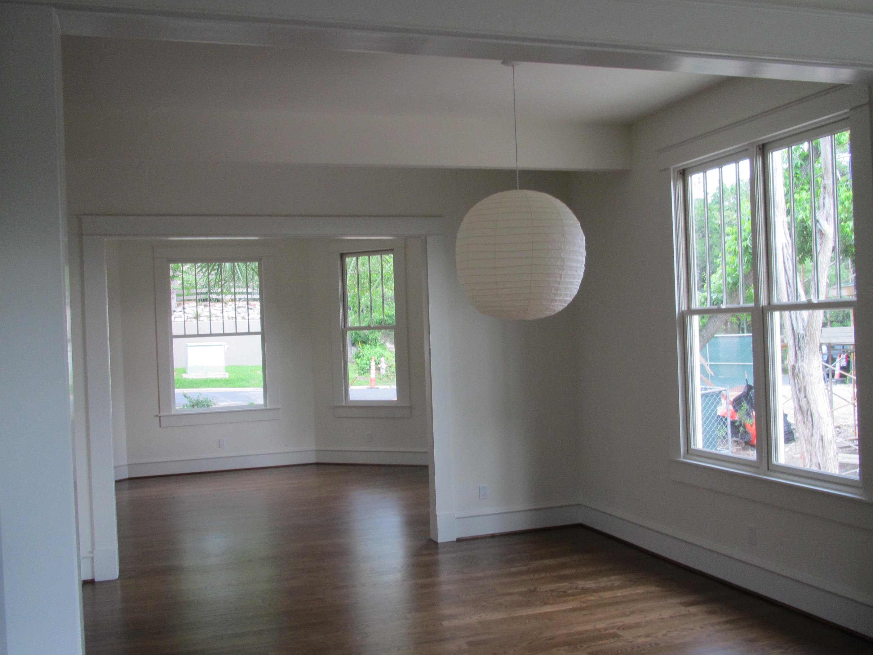 Transition to dining area