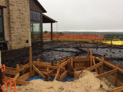 Foundation forms and steel