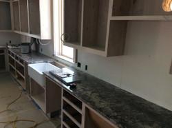 Kitchen countertops installed