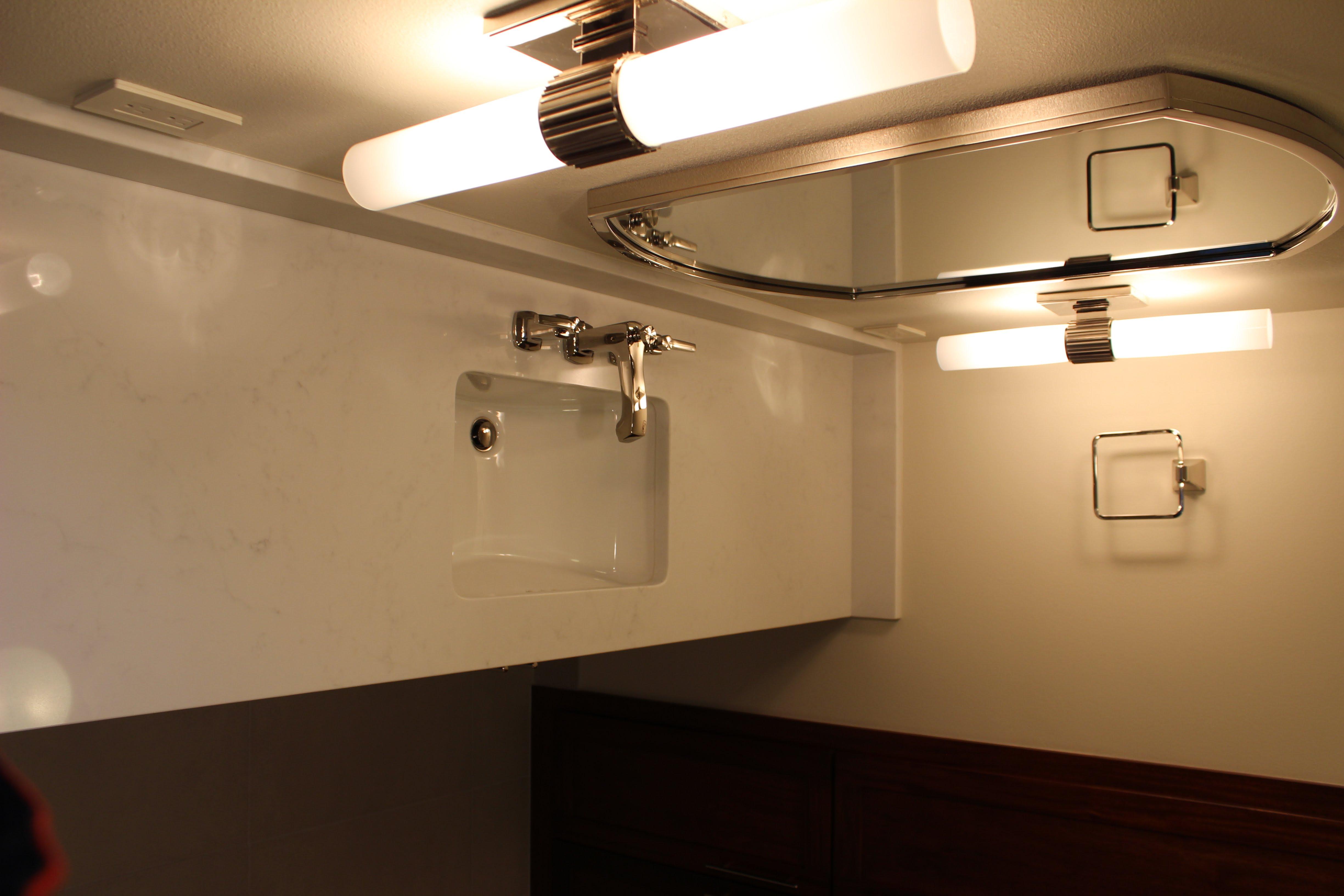 Bathroom vanity- counter top/fixture