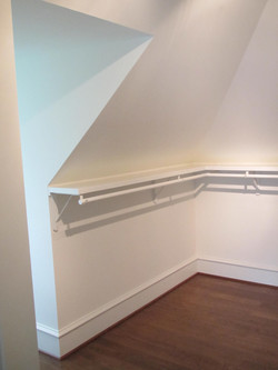 Custom closet--vaulted ceilings