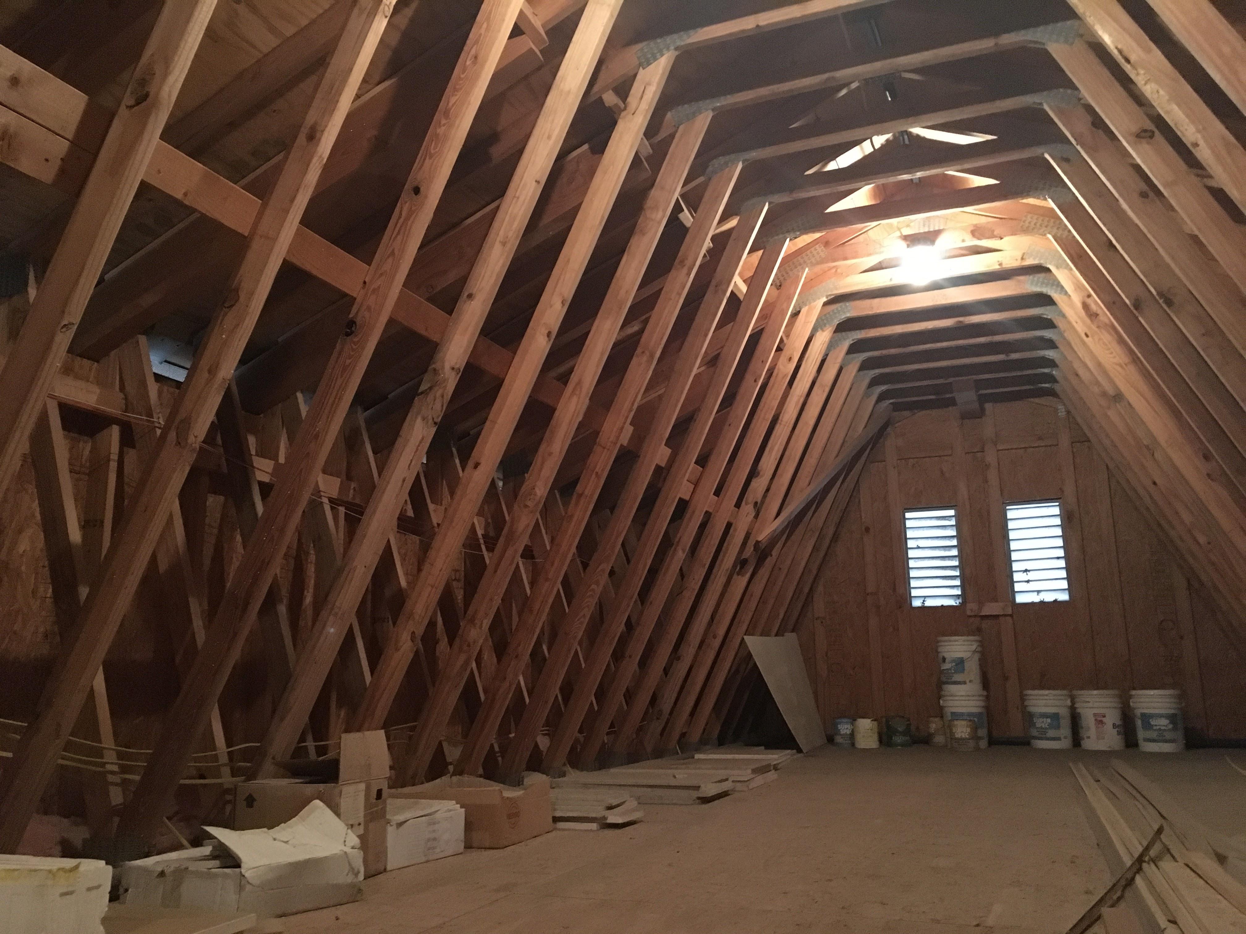 Interior- Attic- vents- trusses