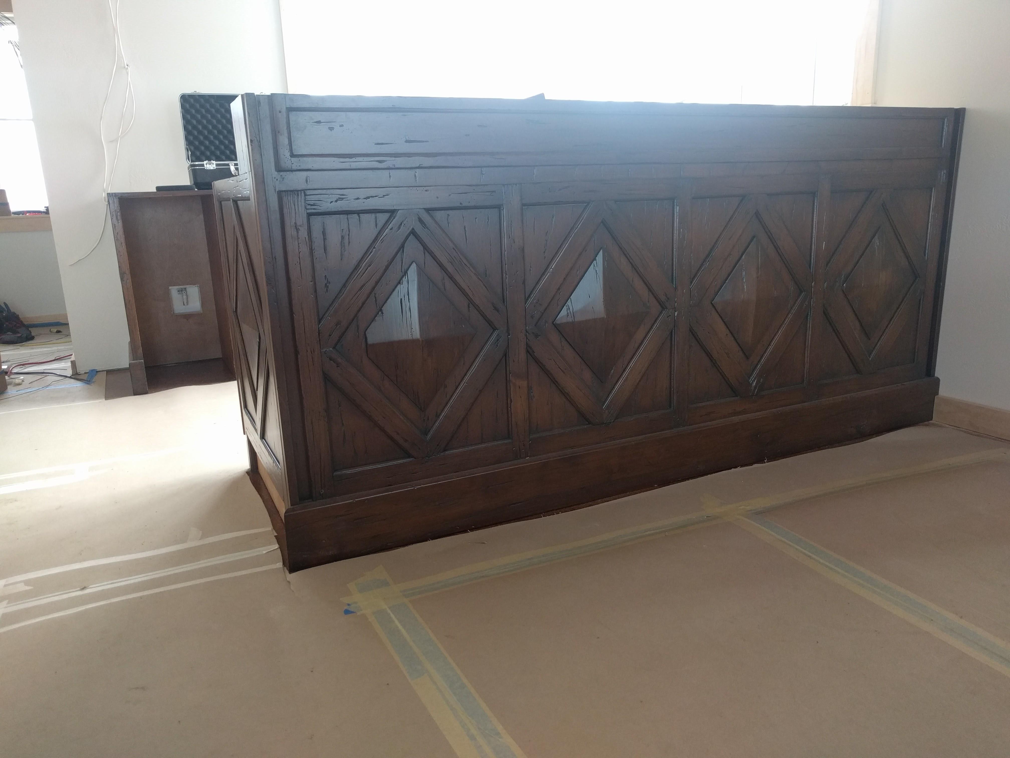 Custom cabinets for bar