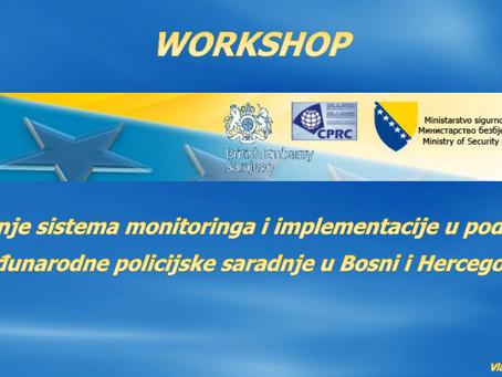 Održan workshop u sklopu projekta Jačanje sistema monitoringa i implementacije u području međunarodn
